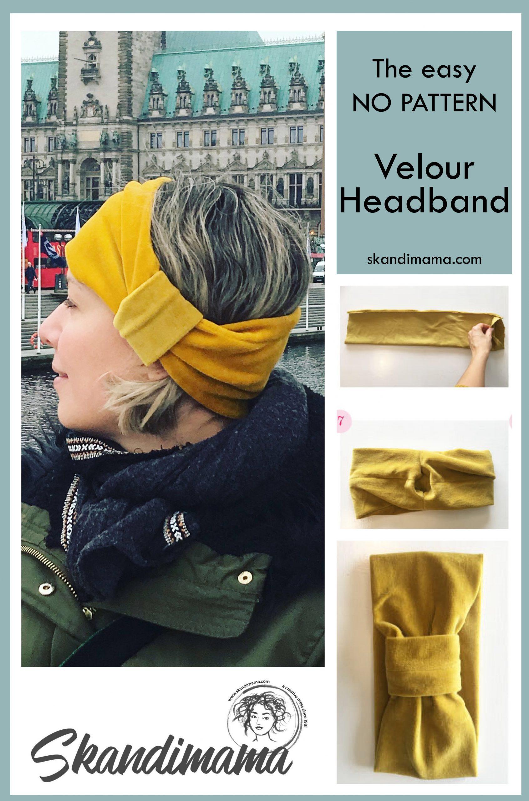 DIY Velour headband