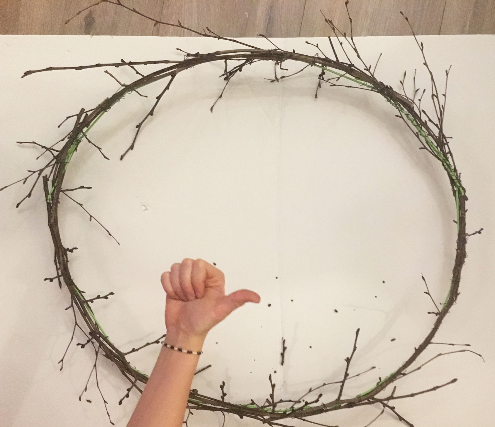Julebling fra oven xmas wreath branches 5