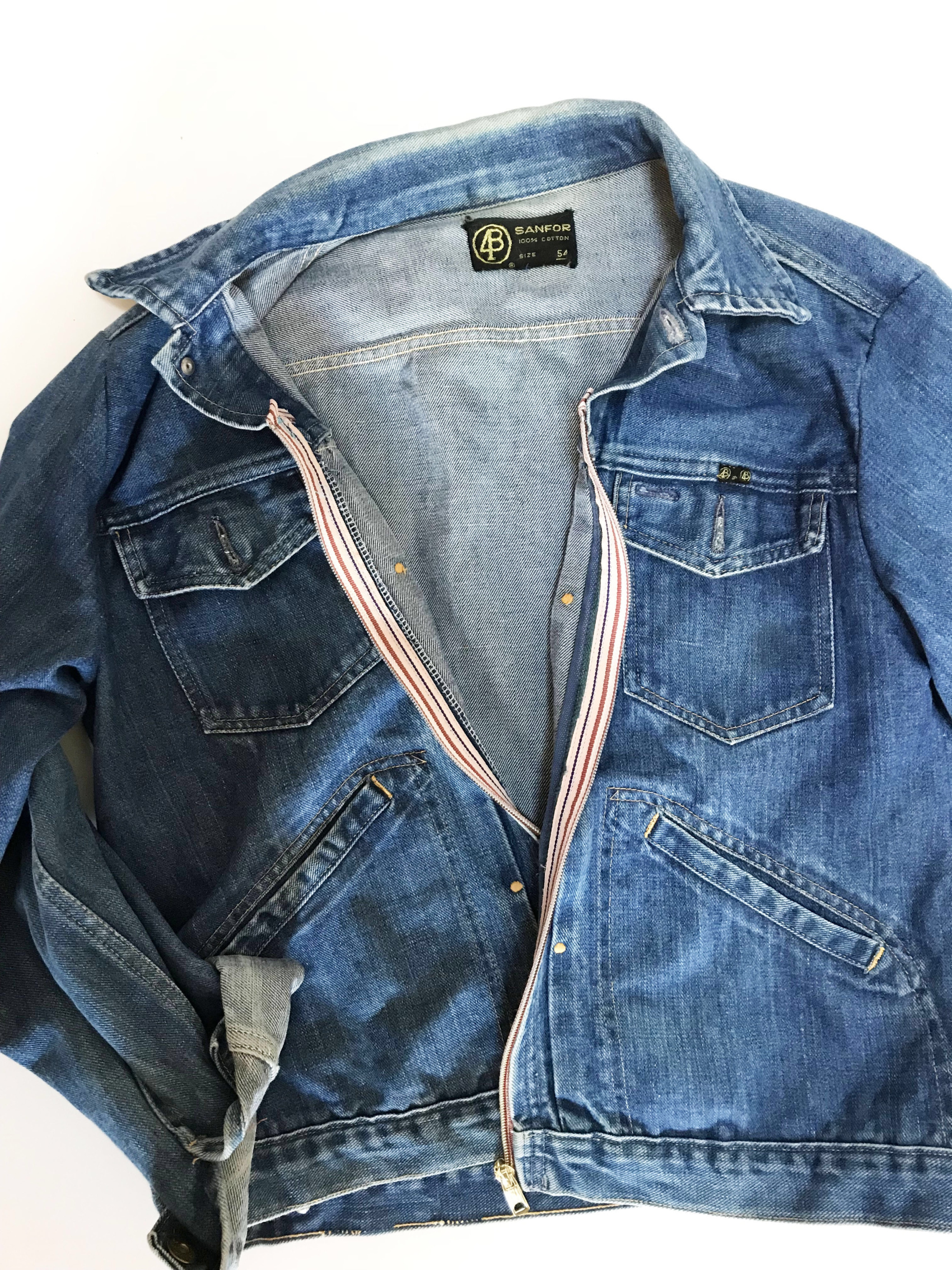 old denim jacket