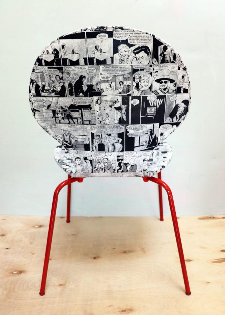 mod podge comic book chair