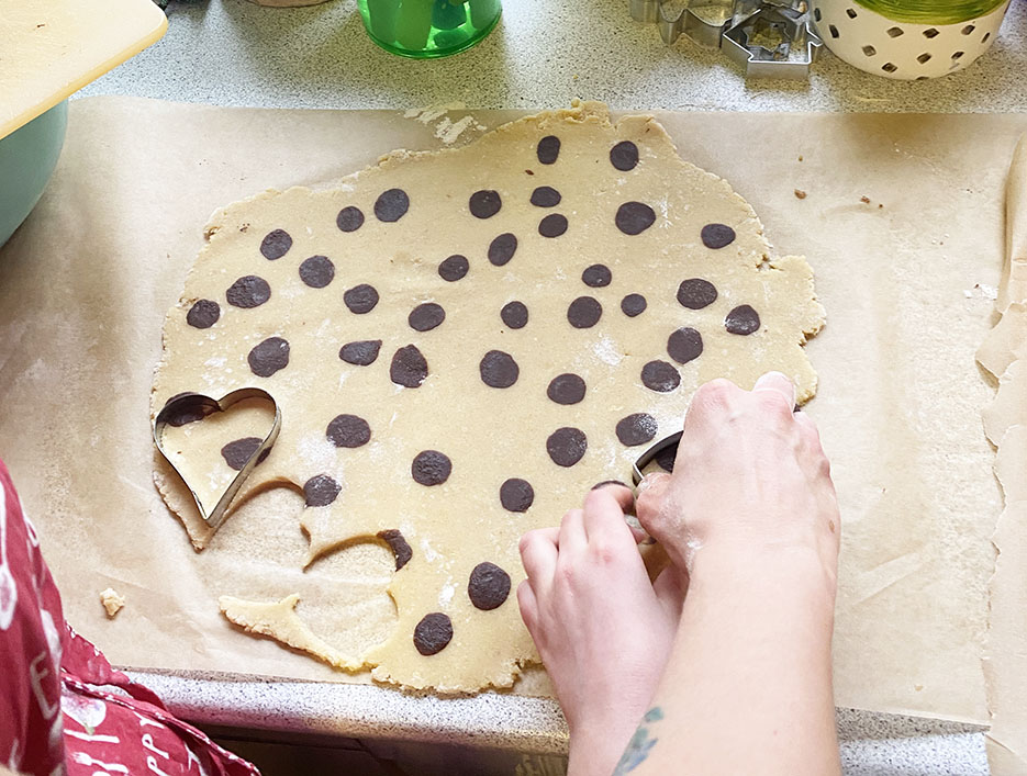 Christmas cookies with dots