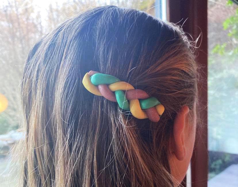 Polymer clay crochet hooks
