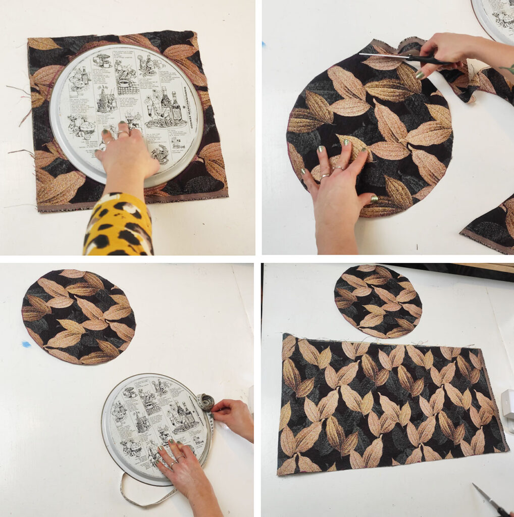 Yarn fabric basket DIY