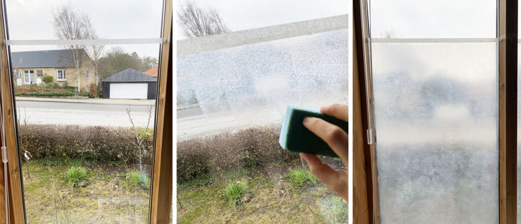 non plastic frosted window