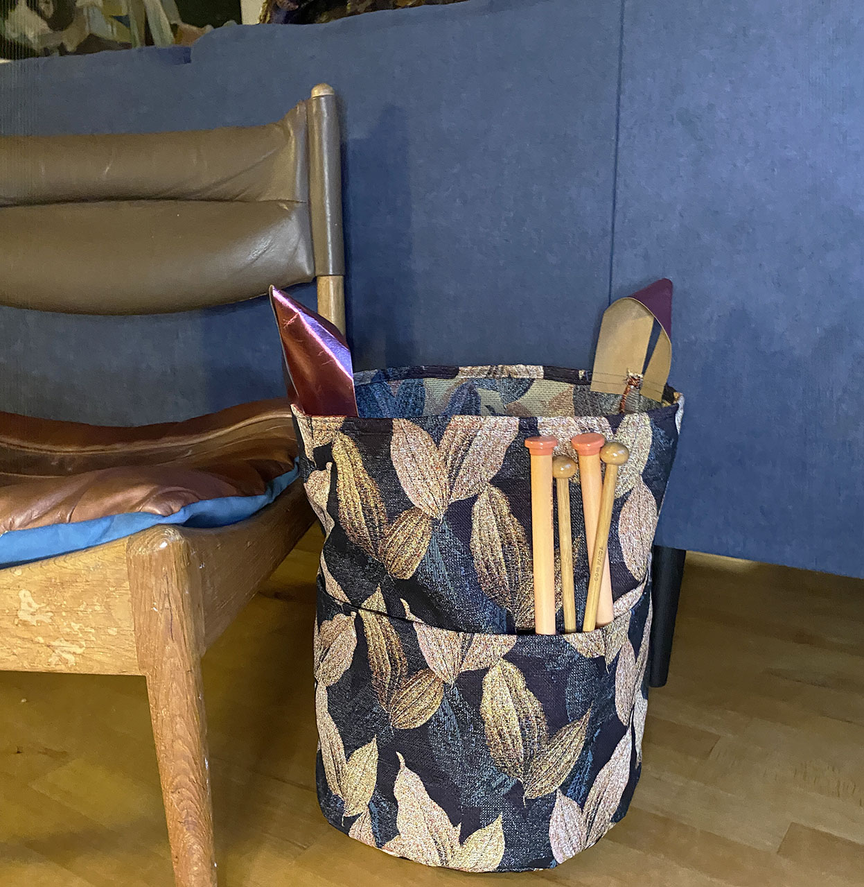 Yarn fabric basket DIY