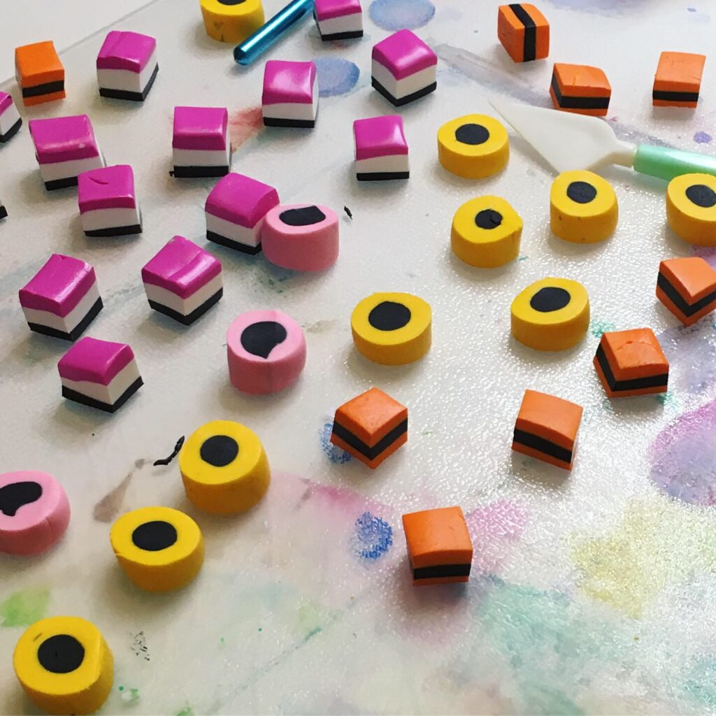 Polymer clay licorice all sorts