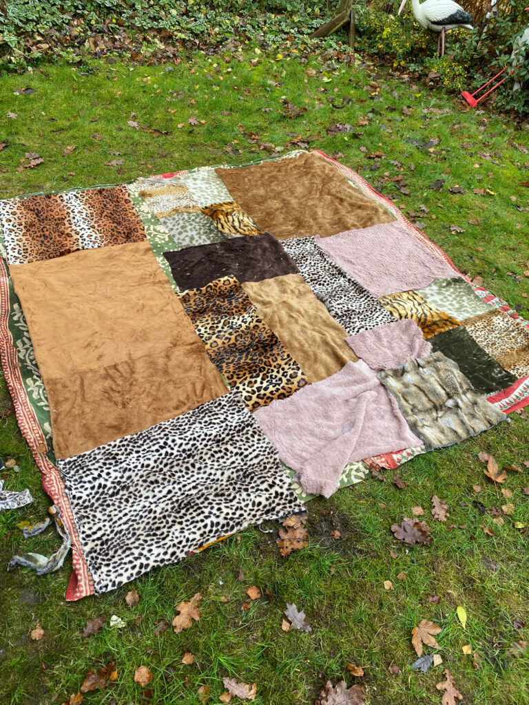 Faux faur scrap blanket