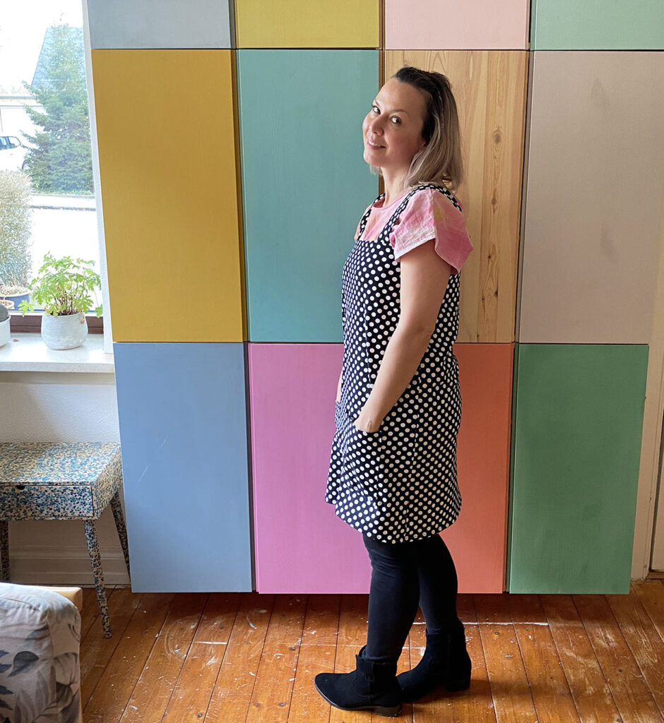 Easy pinafore dress DIY